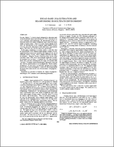 Broad-Band DOA Estimation and Beamforming in Multipath Environment